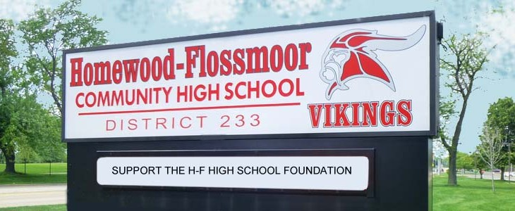 image of homewood flossmoor hight school sign